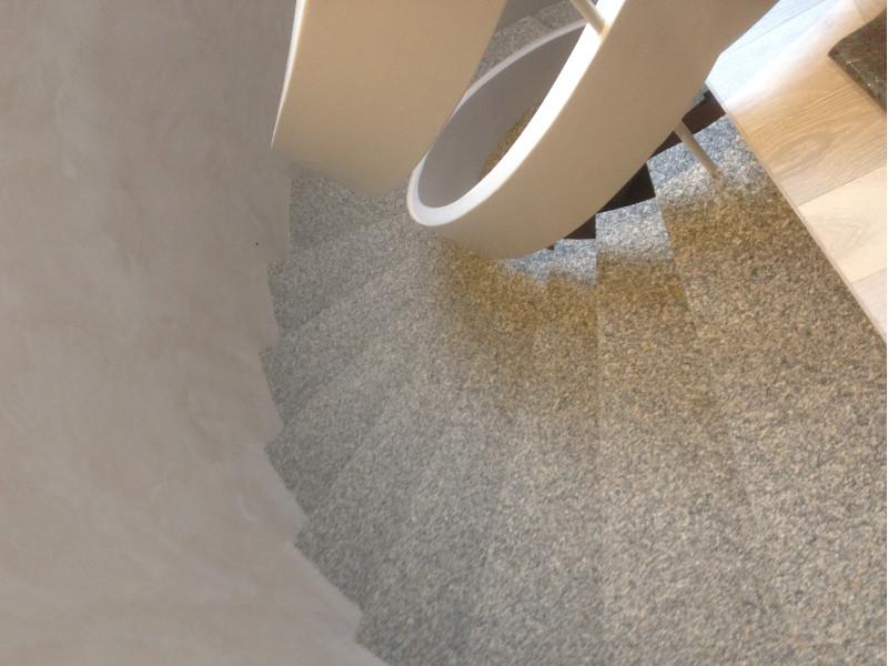 Treppe Teppich Belag